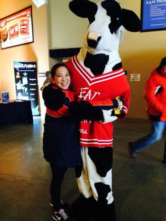 ANGELA AND A COW