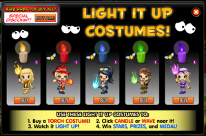 Fantage Fireworks Carnival Event 2012 Torch-costumes
