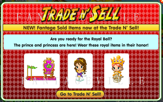 trade n sell items