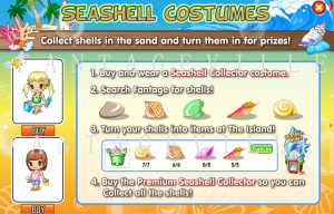 seashell costumes