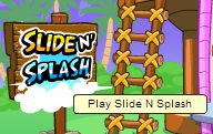 SLIDE N SPLASH SIGN