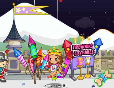 fireworks at castle