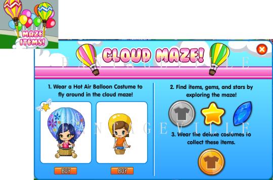 cloud maze items