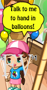 hand in balloons person
