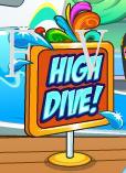 high dive sign