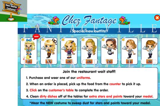 waiter costumes