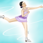 Attempt at realism, Mao Asada (Olympics ice skater)