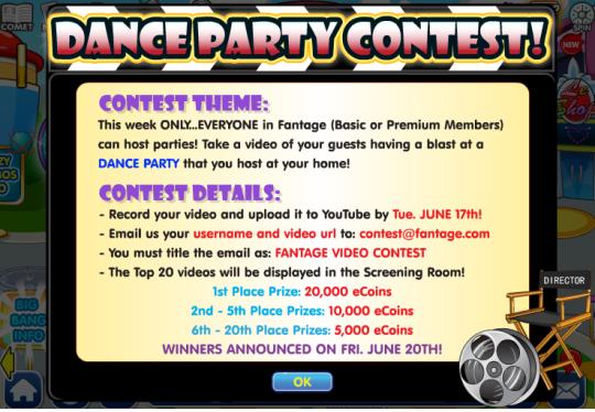 dance party contest