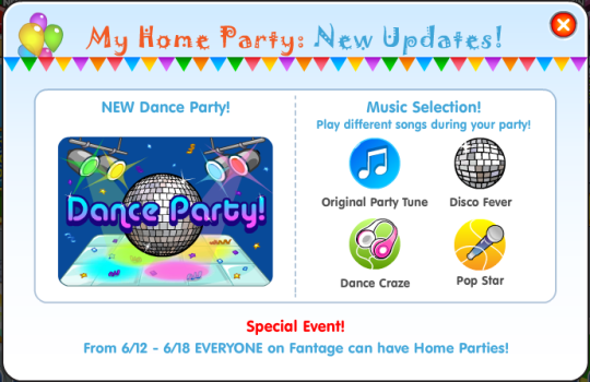 Home Party Updates