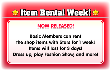 item rental week