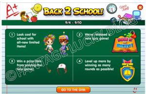 back 2 school info